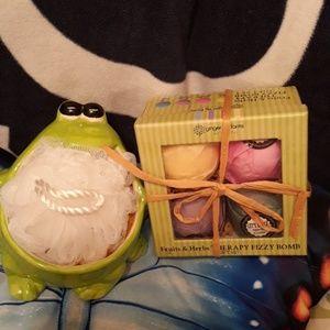 Frog / bath bomb Bathset